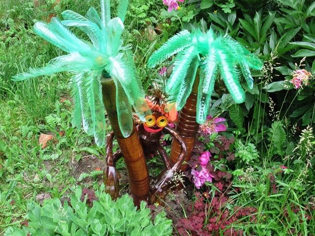 садовые фигуры из бутылок